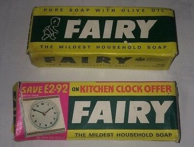 2 X Packs Fairy Household Soap  From 1970 And 1971