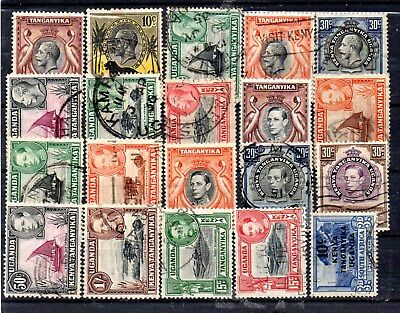 small collection of 20 used/mint GV/GVI stamps from K.U.T