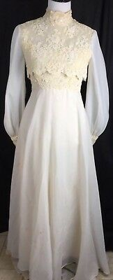 Vtg 50s 60s House Bianchi Wedding Dress For Cleaning/Repair/DIY Zombie S Small