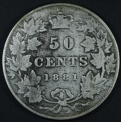 1881H Canada Fifty Cents - VG Condition