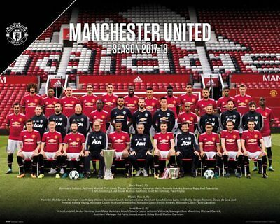 Manchester United FC Mini Poster - TEAM 17/18 - New MUFC Football poster MP2090