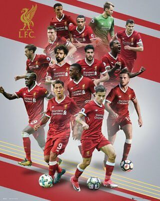 Liverpool FC Mini Poster - PLAYERS 17/18 - New LIVERPOOL Football poster MP2103
