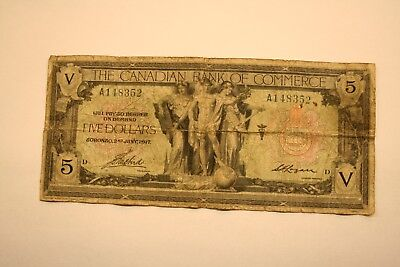 Canada 1917, $5 Canadian Bank of Commerce