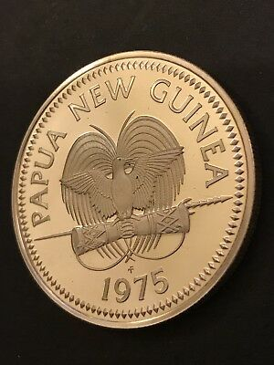 Papua New Guinea 1975 K5 Silver Medal Coin Fine Silver Uncirculated Mint