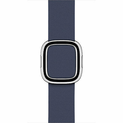 Genuine Apple - 38mm Modern Buckle Band (Midnight Blue) Large - New! Open Box!