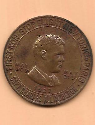 "Charles Lindbergh ""LUCKY LINDBERGH"" Good Luck Coin-Medal"