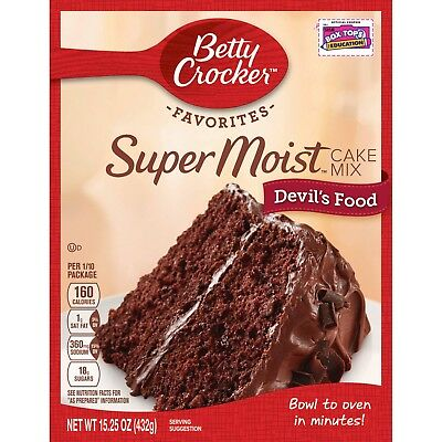 New Delights Betty Crocker Super Moist Devils Food Cake Mix 15.25 Oz