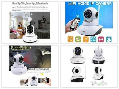 Wireless Wifi Pet Baby Monitor Two Way Audio Night Vision 720P HD IP Camera J