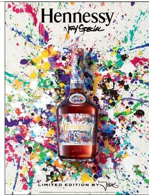 Hennessy cognac Poster Artist Label 18 By 27