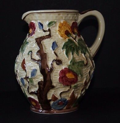 INDIAN TREE JUG   Relief Moulded. 7.2 inches high     Excellent condition