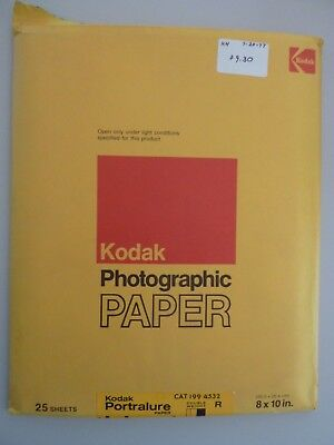 """Lot of 2 Vintage Kodak Photographic Paper 8x10"""", Opened, Portralure Polycontrast"""
