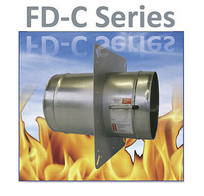100mm INLINE DUCT MOUNTED RESETTABLE  FIRE & VOLUME CONTROL DAMPER VENTILATION