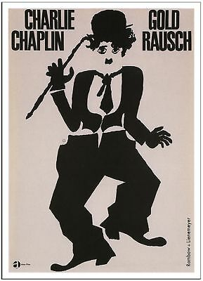 CHARLIE CHAPLIN IN THE GOLD RUSH by Gunther Rambow - 1962 - Germany