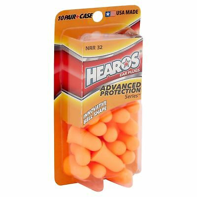 LOT OF 2 NEW USA MADE Hearos Advanced Protection Ear Plugs (bell shape) 40 total