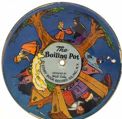 Walt Kelly (Pogo) illustrated Storybook Record, Boiling Pot,Tortoise & the Hare