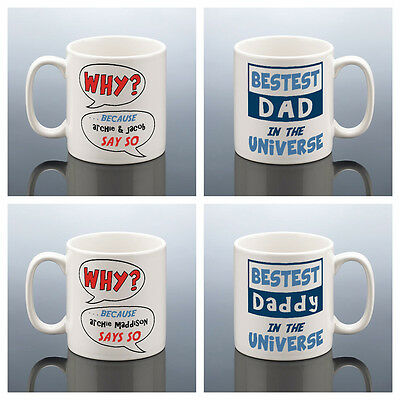 BEST DAD DADDY PERSONALISED MUG Fathers Day Gift Birthday Father's Superhero Mug