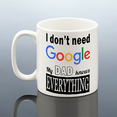 DAD KNOWS EVERYTHING MUG Best Dad Birthday Gift Fathers Day Daddy Cup Father's