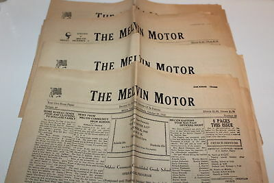 Vintage lot of three Newspapers The Melvin Motor Ford County Illinois 1948