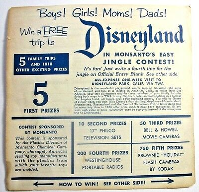 Disneyland Brochure Sale-1St Year 1955 Flyer Advertising New Park & Free Trips