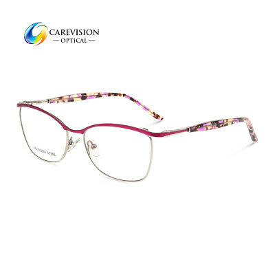 c4d208c4ae2e Women s Eyeglasses Frames Metal Spring Hinge Glasses Frame RX Optical  Eyewear