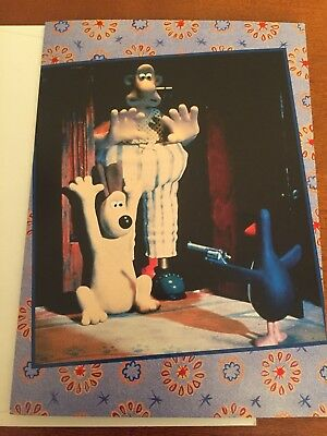 wallace and gromit-Greeting Card-Belated Birthday-Rare
