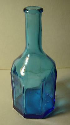 Wheaton N. J. 8 Sided Blue Bottle ~ Great condition!