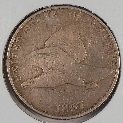 1857 1C Flying Eagle Cent Fine Condition #167820