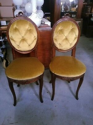 2 sedie padded very good condition Thomas Chippendale velvet chair armchairs