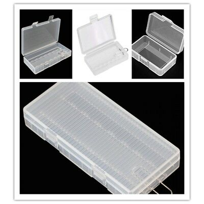 Transparent Hard Plastic Case Holder Storage Box Cover for 9V/AA/AAA Battery GL