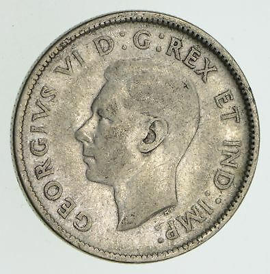 SILVER - 1943 Canada 25 Cents - World Silver Coin 6.1 Grams *899