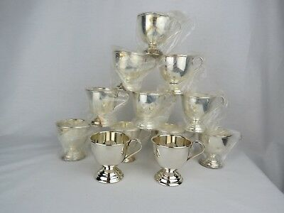 24 Nickel Silver Footed Punch Cups made in Japan by Eldan