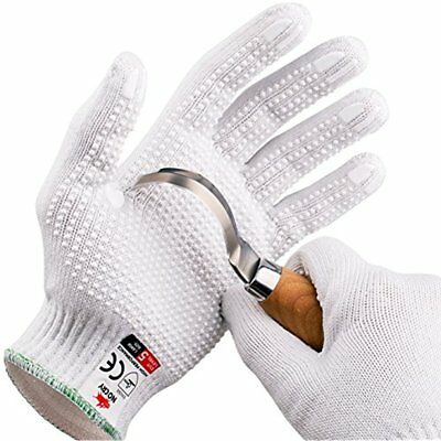 Lab Safety & Work Gloves NoCry Cut Resistant Protective With Rubber Grip Dots.