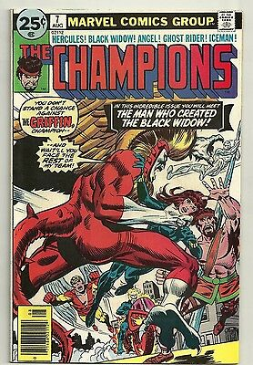 Champions #7 - 1976 - Ghost Rider - The Man Who Created Black Widow - Bv $20