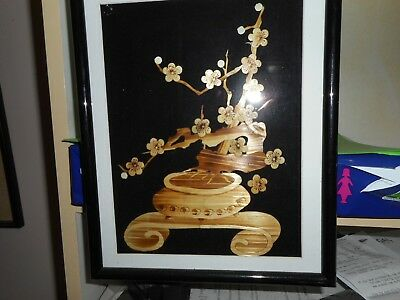 Asian Bamboo Picture - Ready To Hang - Under Glass