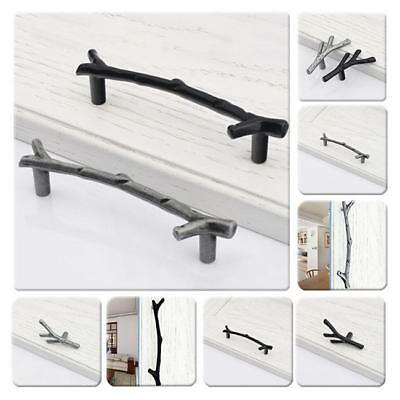Antique Metal Twig Knob Tree Branch Pull Kitchen Drawer Door Handle Hardware - L