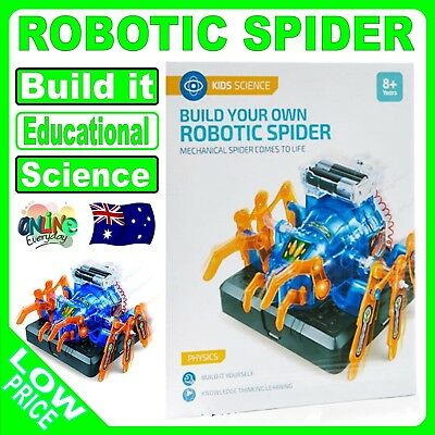 Build Your Own Robotic Spider Kit Toy Science Educational, Kids, Learning, Robot