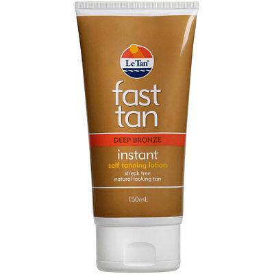 Le Tan Fast Tanning Lotion Deep Bronze 150ml Instant Streak Free Application