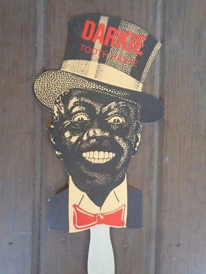 Black Americana Darkie Toothpaste Advertising Hand Fan