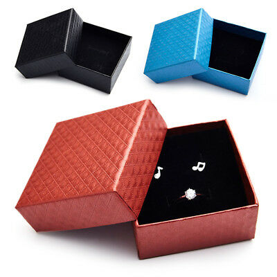 Anillos/Collares/Pendientes Square Jewelry Cartón Paper Gift Box Case WB1