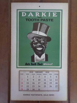 Black Americana Darkie Tooth Paste 1912 Advertisement Calendar