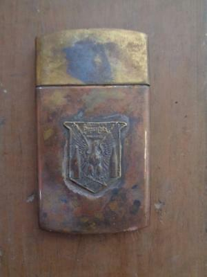 Brass Pepsi Cola Map Document Case Holder With Slide Off Lid Soda Advertising