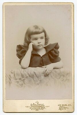 Pretty Young Girl in Beautiful Dress, Vintage Photo by St. Paul, AB Canada