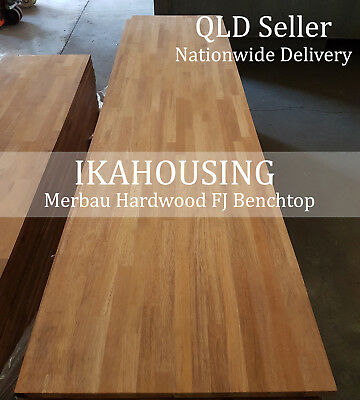 NEW Solid Merbau Hardwood 30mm Benchtop Boards 3000x600x30mm CHEAPEST PRICE QLD