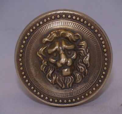 Greece Vintage  Solid Brass Large Door Handle Knob Lion Head Push/Pull #6