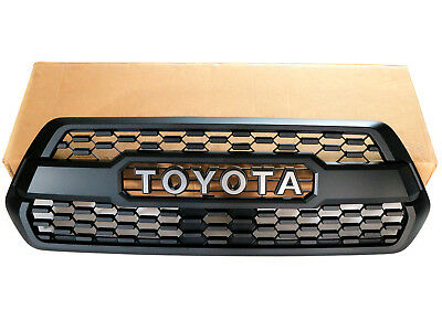 16-17 Toyota Tacoma TRD PRO Style Grill Matte Black Front Bumper Hood Grille