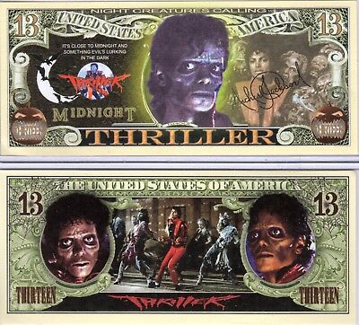 Michael Jackson - Thriller Million Dollar Novelty Money