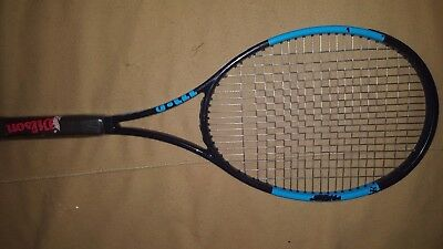 wilson ultra tour 97 tennis racket 2017 (used only 3 times) strung w/luxilon alu
