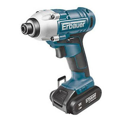 NEW  Erbauer ERI6041PD 18V 2.0Ah Li-Ion Cordless Impact Driver OUR SALE ITE