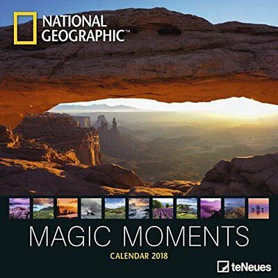 National Geographic 'Magic Moments' 2018 Wall Calendar (New & Sealed)