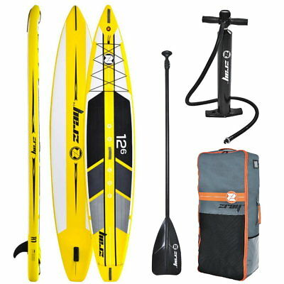 ZRAY R1 Touring Race 12.6 SUP Board Stand Up Paddle Surf-Board aufblasbar Paddel